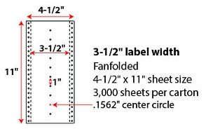 "4 1/2 X 11"" PINFEED LABELS"