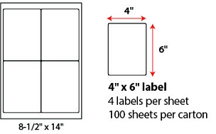 "4 X 6"" SHEETED LABELS"