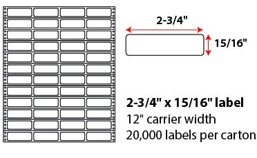 2 3/4 X 15/16' PINFEED LABELS