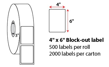 4 X 6' ROLLED BLOCK-OUT LABELS