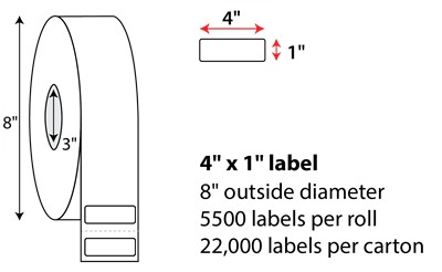 4 X 1' THERMAL TRANSFER LABELS