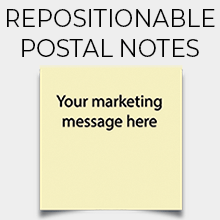 Repositionable Postal Notes