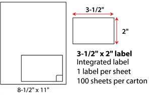 3.5x2 Inch Integrated Labels