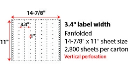 "14 7/8 X 11"" PINFEED LABELS"
