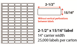 2.5x.9375 Pinfeed Labels