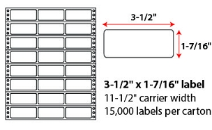 3.5x1.4375 Inch Pinfeed Labels