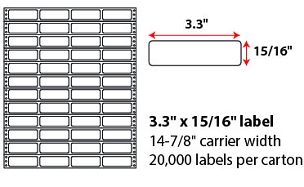 3.2x1.375 Inch Pinfeed Labels