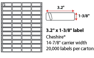 "3.2 X 1 3/8"" CHESHIRE PINFEED LABELS"