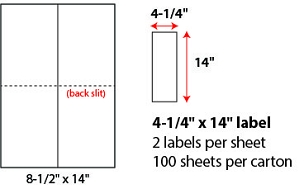 "4 1/4 X 14"" SHEETED LABELS"