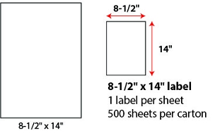"8 1/2 X 14"" SHEETED LABELS"