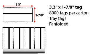 3.3x1.875 Inch Thermal Tray Tag