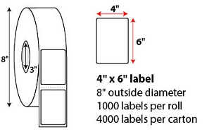 "4 X 6"" DIRECT THERMAL LABELS"