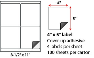 "4 X 5"" SHEETED BLOCK-OUT LABELS"
