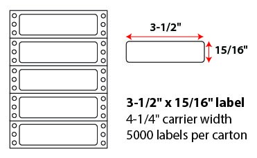 3.5x.9375 Pinfeed Labels