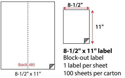 8 5 X 11 Block Out Cover Up Labels Sheets