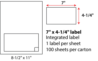 7x4.25 Inch Integrated Labels