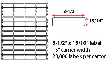 3.5x.9375 Inch Pinfeed Labels