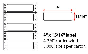 4x.9375 Inch Pinfeed Labels