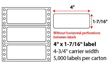 3.3x.9375 Inch Pinfeed Labels