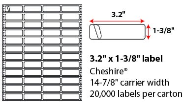 2.75x.9375 Inch Pinfeed Labels